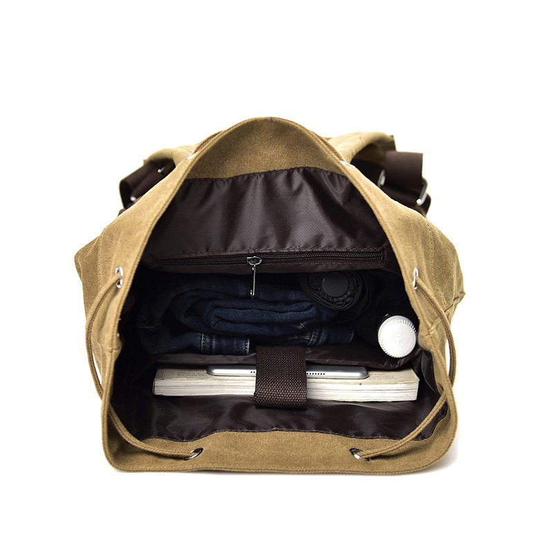 Scione Mens Casual Travel Backpack Large Capacity Multifunctional Weekend Bags Casual String Shoulder Bags Rucksack