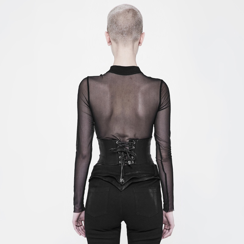 Punk Rave Men/'s Gothic Rock Cyber Metal Fetish Cosplay Sleeveeless Top Shirt