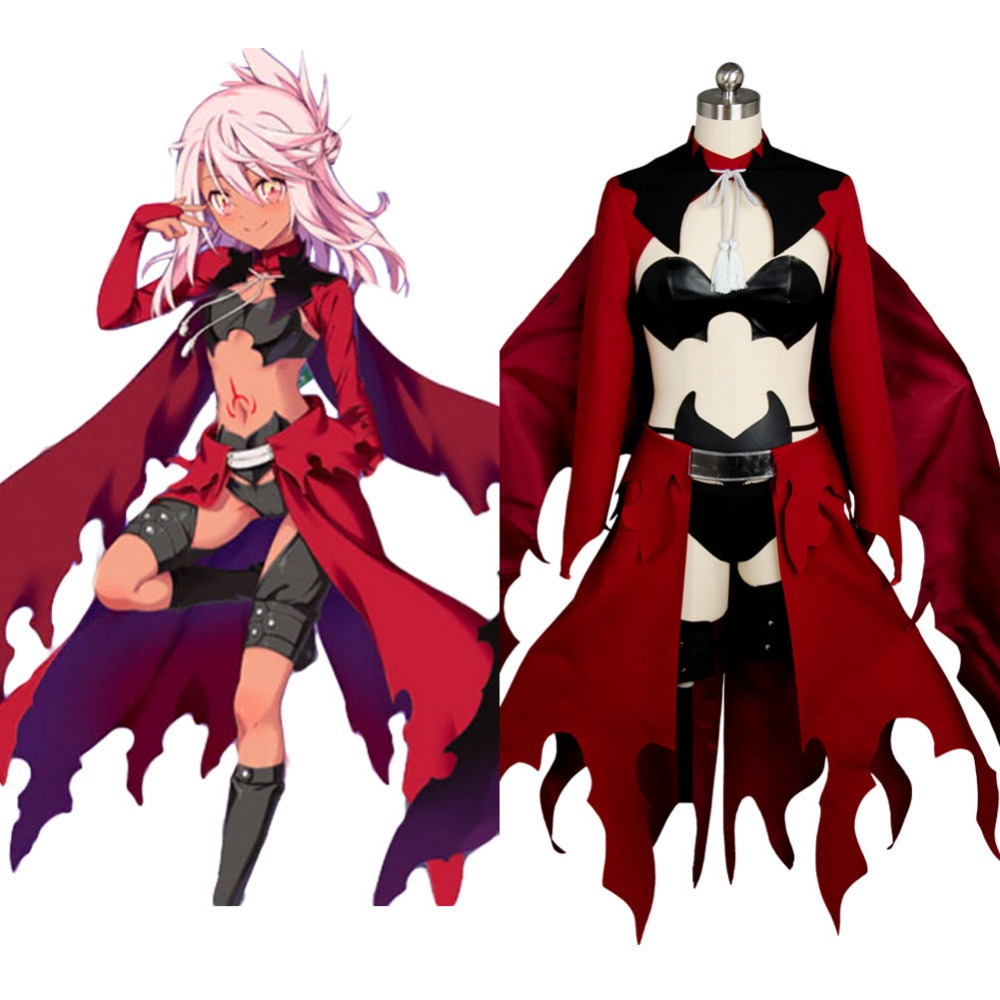 Original Fate/kaleid liner PRISMA Illya Kuro(Black)Emiya Red Archer Dress Cosplay Costume For Halloween Party Suit fate kaleid liner prisma illya magical ruby illyasviel von einzbern figure