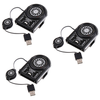 3 PCS Vacuum Mini USB Air Extracting Cooling Fan Cooler for Notebook Laptop