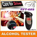 2pcs/lot  Alcohol Tester Breathalyzer Alcohol Detector With Red Backlight LCD Display & 5 Mouthpieces Free Shipping