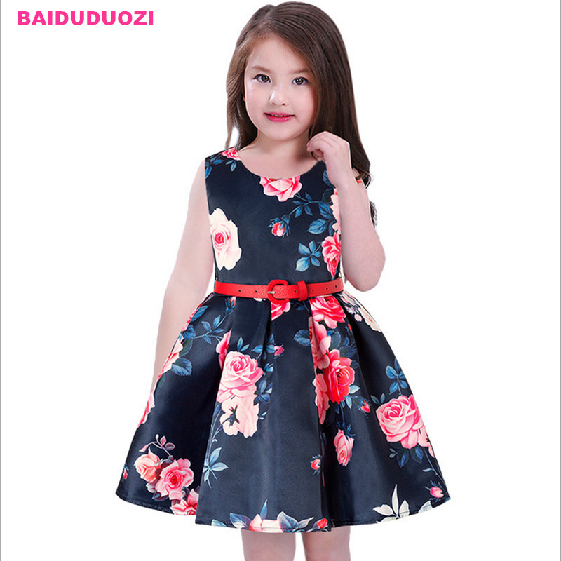 Summer Flower Dress Girl Princess Costume Dresses Girl Party Wear Tulle Kids Children Prom Gown Vestido Formal Dress 3-11 Years teenage girl party dress children 2016 summer flower lace princess dress junior girls celebration prom gown dresses kids clothes