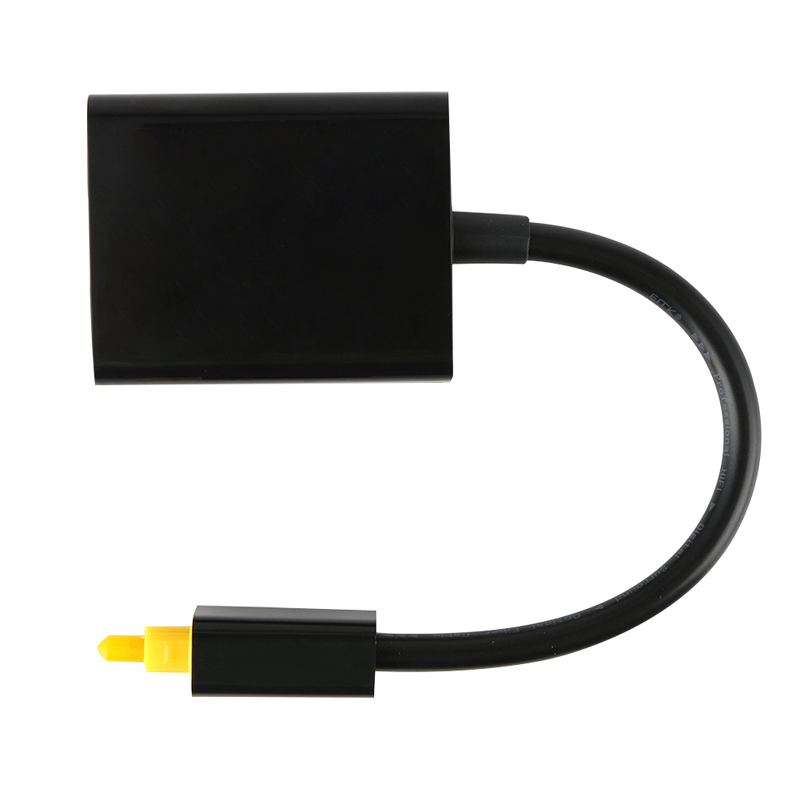 1PC 18cm Digital Toslink Optical Fiber Audio Cable 1 Male to 2 Female Toslink Splitter Adapter for CD Player DVD Player