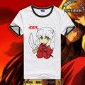 Envío Libre Algodón Corto de Anime Japonés Inuyasha Inuyasha Seshyoumaru T-shirt Top Tees Camisa