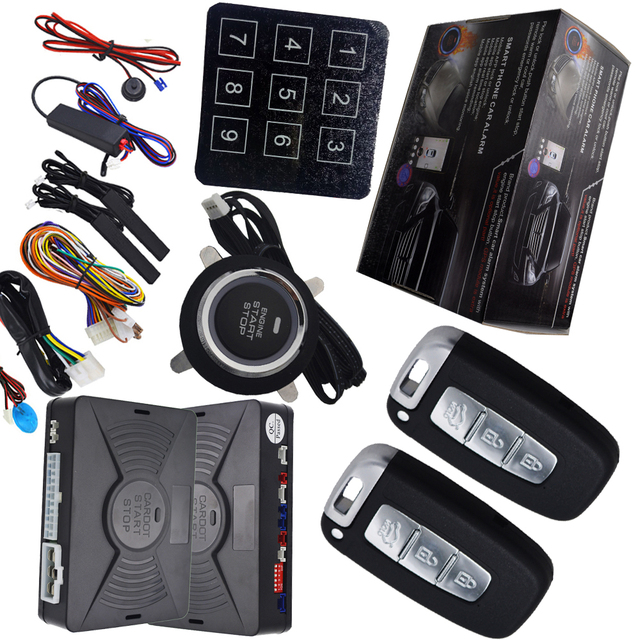 Automotible Keyless Entryu0026push Start System Remote Keyless Entry Lock Or Unlock  Car Door Auto PKE Induction