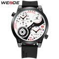 WEIDE Men Fashion Watches With Compass Function Japan Movement Analog 30m Water Resistance Silicone Band Casual Men Quartz-Watch