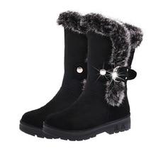 Heißer verkauf winter frauen schnee stiefel warme runde kappe bequeme stiefel weiblichen pelz plüsch hohe qualität botas großhandel DVT630