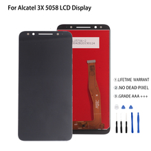 For Alcatel 3X 5058i 5058y 5058 LCD Display Touch Screen Digitizer For Alcatel 3X 5058 Display Screen LCD Phone Parts все цены