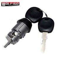 WOLFIGO NEW for VW Beetle 1971 Up Ignition Switch Key & Lock Cylinder Bug for T3 Ghia Bus 191905855 357905855B|Car Key| |  -