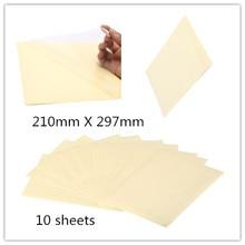 10 листов самоклеящаяся виниловая прозрачная пленка А4 для этикеток 210 мм X 297 мм для лазерного принтера 21X29,7 см