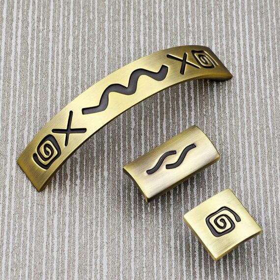 3.75 \'\'de Bronce Antigua Carta Símbolos Hardware Manijas Del ...