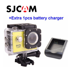 Free shipping!! Original SJCAM SJ4000 Diving 30M Waterproof extreme Helmet  Sport Action Camera +Extra battery charger