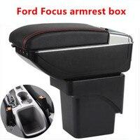 Para ford focus 2 caixa de apoio de braço loja central mk2 caixa de conteúdo produtos interior braço armazenamento carro estilo acessórios peças|Braços| |  -