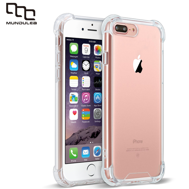 separation shoes 97500 7271d US $5.72 9% OFF|PC+TPU Shockoroof for iphone 6 plus Case Clear Transparent  Crystal Coque for iphone 6s plus Capa 5s SE phone Cases 7 Plus-in Fitted ...