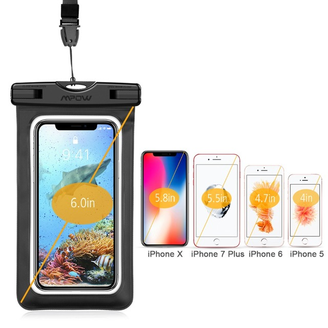 3pcs/lot Mpow PA079 6inch IPX8 Waterproof Bag Case Universal Phone Pouch Swimming Take Photo Underwater For Xiaomi 8 iPhone X 8