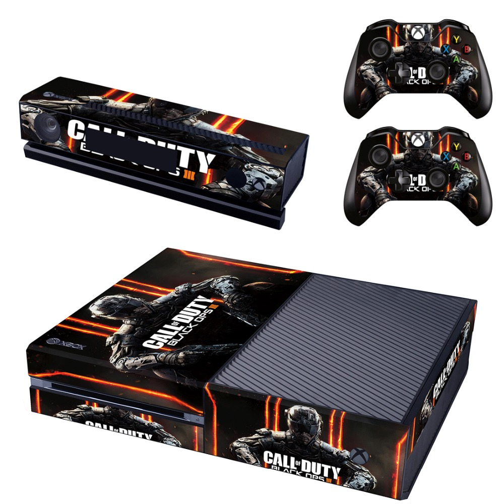 New Skin Sticker of Call of Duty Decals Designed for Xbox One Console & Kinect & 2 Controller