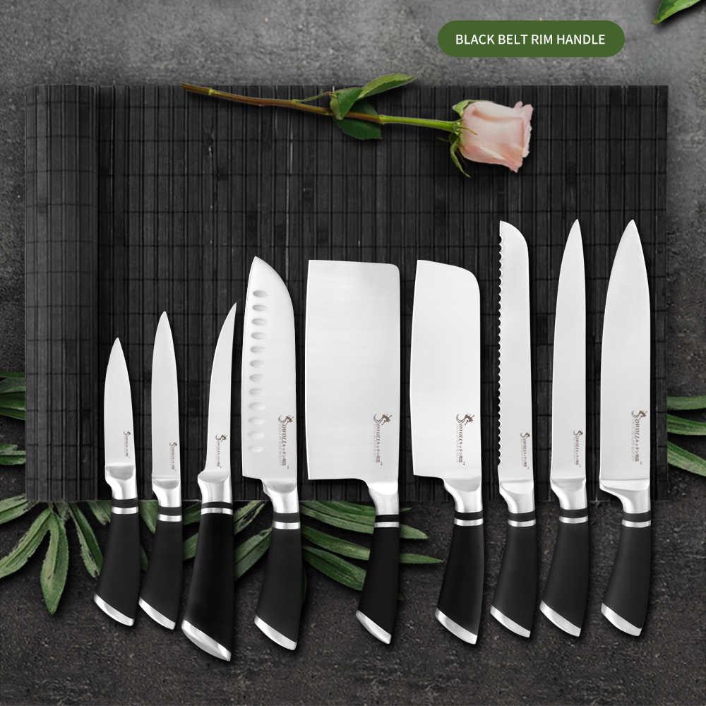 """Sowoll kuchnia 8 """"7"""" 6 ''fileting nóż ryby nóż do trybowania nóż ze stali nierdzewnej Sushi kości mięso ryby owoce warzywa darmowa okładka"""