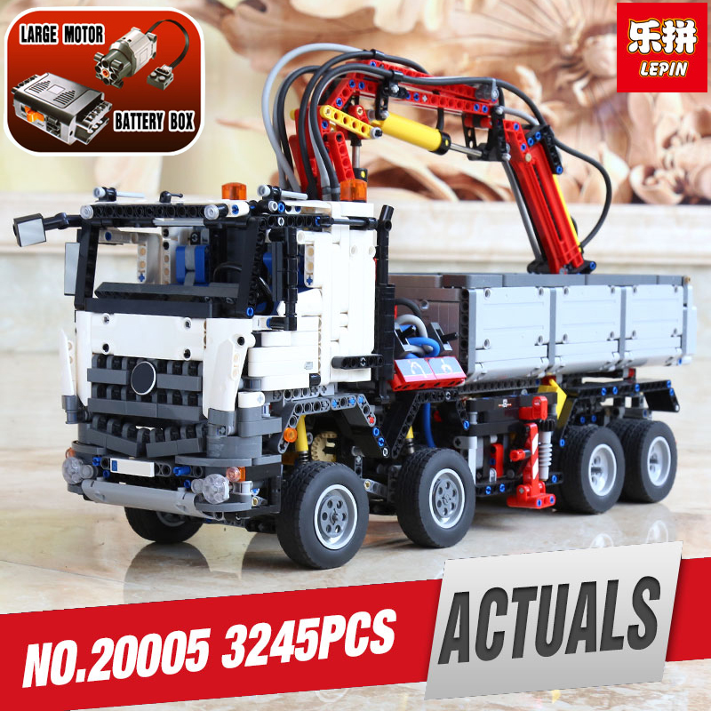DHL LEPIN 20005 technic series Arocs Model Building blocks Bricks Compatible with legoing 42043 Toy model for Children as gift lepin technic series building bricks 20005 2793pcs arocs truck model building kits blocks compatible 42043 boys toys gift