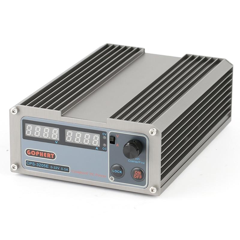 CPS-3205E High Power Digital DC Power Supply 32V 5A OVP/OCP/OTP Adjustable Compact Laboratory Power Supply 110V/220V