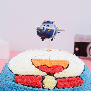 Image 5 - 1PCS/PACK Baby Shower Party Happy Birthday Cake Toppers Super Wings Theme Kids Favors Cupcake Decoration Flag Events Supplies