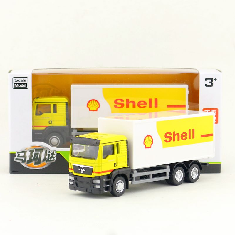 Contemplative Rmz City/diecast Toy Car Model/1:64 Scale/man Shell Container Delivery Truck/vehicle Educational Collection/gift For Children Toys & Hobbies