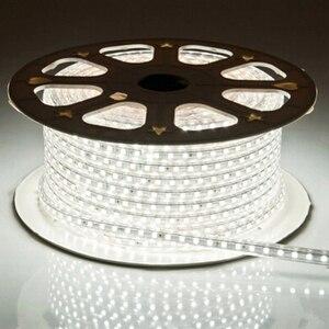 Image 4 - LAIMAIK LED 스트립 라이트 키트 SMD3014 AC220V 120led/M 화환 테이프 IP67 방수 LED 조명 스트립 + EU 플러그 Led 스트립 조명