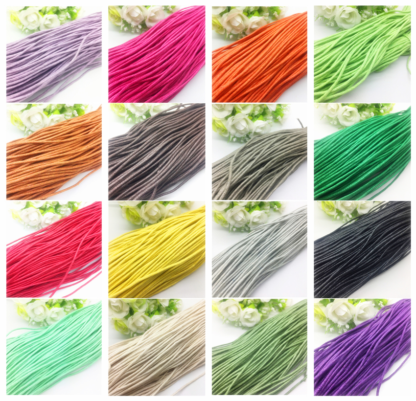 New 10 Yards 1.5mm  Waxed Cotton Beading Cord Rope For Bracelet String Cord Necklace Charms DIY