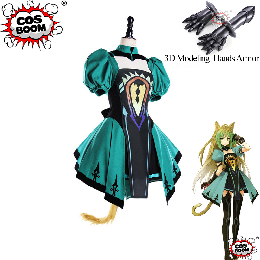 COSBOOM Fate Grand Order Cosplay FGO Atalanta Costume Fate Apocrypha Chaste Huntress Archer of Red Game Cosplay Costume