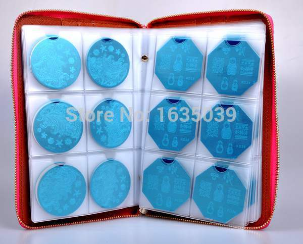 High quality 240slots Nail Stamp Plate Synthetic Leather Folder/Holders/Cases Nail template album,round plate case,sorting bag high quality 120slots nail stamp plate synthetic leather folder holders cases nail template album plate case sorting plate bag