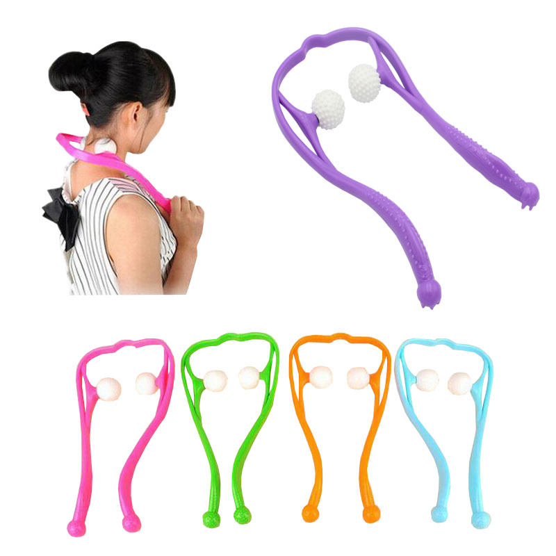 New multi-function u-shaped manual cervical neck  massager 34*18cm
