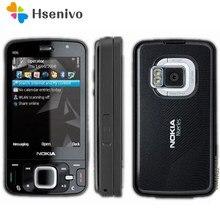 Nokia N96 yenilenmiş-orijinal Nokia N96 telefon GSM 3G 16GB dahili bellek WIFI GPS 5MP,1 yıl garanti yenilenmiş