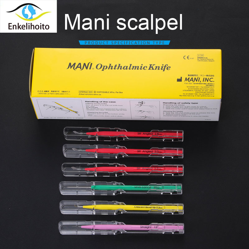 Japan Mani Scalpel Sharp Jewel Knife 3.0 Month Tunnel Knife 15 ° Side Cutter Eye Scalpel