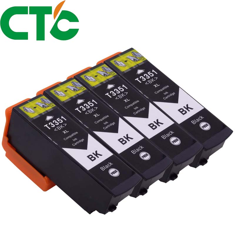 4 Pack 33XL T3351 T3361 Compatible ink cartridge for Epson XP-530 XP-630 XP-830 XP-635 XP-540 XP-640 XP-645 for Europe printer