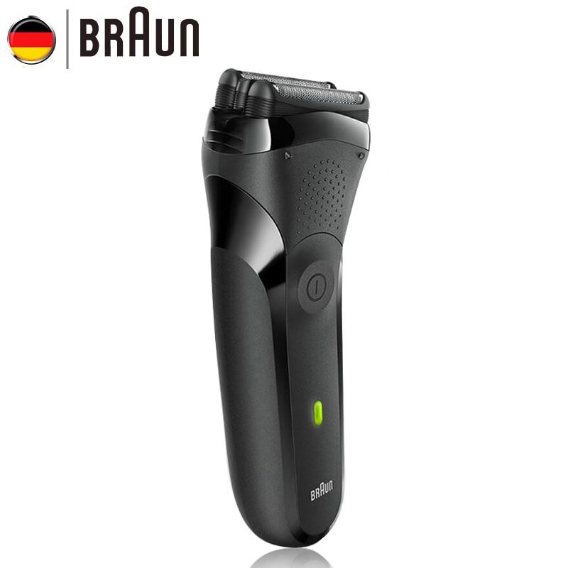 Braun электробритва для Для мужчин гигиена бритва моющиеся плавающая головка электрическая бритва для бритья код безопасности бритвы 300 s