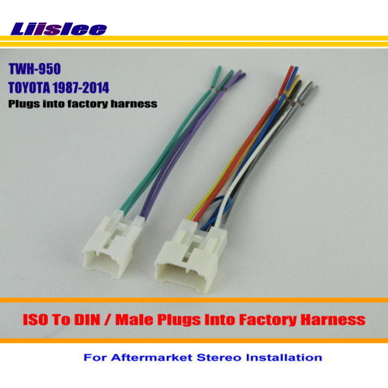 liislee for toyota 1987 2014 male iso radio wire cable ... pioneer aftermarket radio wiring harness toyota pickup aftermarket radio wiring harness