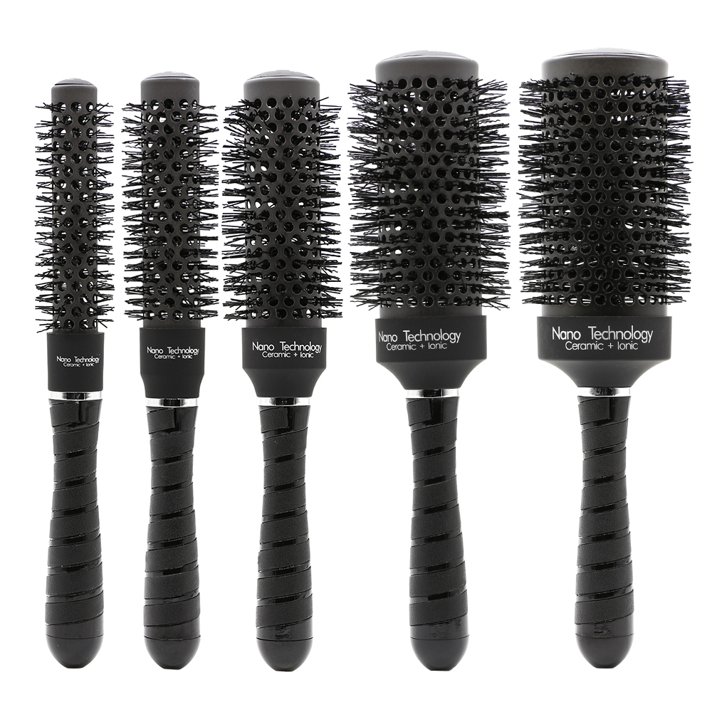 Mythus 5 Saiz Nano Ceramic Ionic Hair Brush Perlindungan Round Hairdressing Brush Untuk Hairlessling Air Hot Blowing Comb Curling