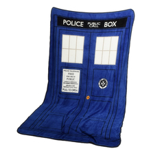 127 * 226cm Doctor Who Blankets Tardis Coral Fleece Carpet Police Box Blanket Blue Bed Sheet Cosplay Costume Accessories