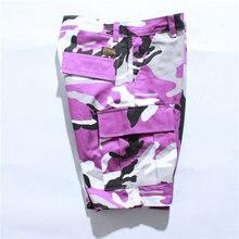 54dcc01310 2018 Summer Fashion Men Cargo Camouflage Shorts Camo Hip Hop Streetwear  Pink Purple Yellow Orange Blue