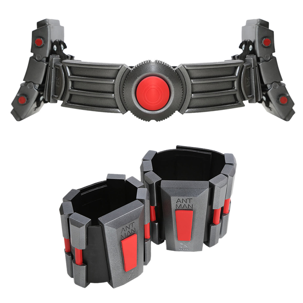 X-COSTUME Ant Man Belt Newest Resin Belts And Wrist Guard Superhero Cosplay Costume Props Halloween Party Belts With LED Light