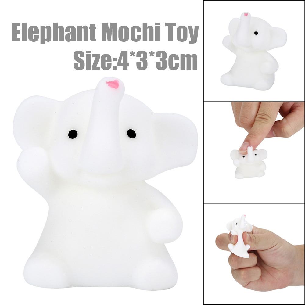 ISHOWTIENDA 4CM Cute Elephant Mochi Squishy Squeeze toy Healing Kids Kawaii Stress Reliever Deco antistress toys prank rallies
