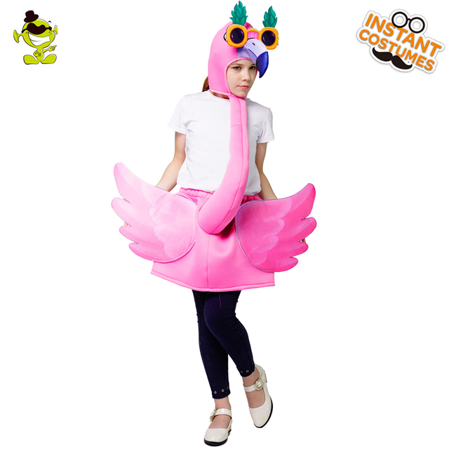 3b134c6fe9bb Christmas Girl s Boy s Pink Flamingo Costumes Fancy Dress in Cosplay  Carnival Party Role Play Funny Flamingo Costumes