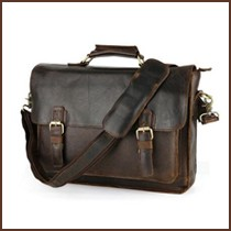 men\'s natural leather briefcases