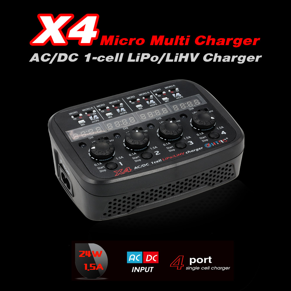 X4 Micro Multifunction Charger AC/DC Input for 1S Lipo Lihv Battery Micro/Micro Reverse/MX/mCPX Connector RC Drone Quadcopter 1s lipo battery charging board blade inductrix ultra micro jst ph parallel connect plate mcx mcpx page 7