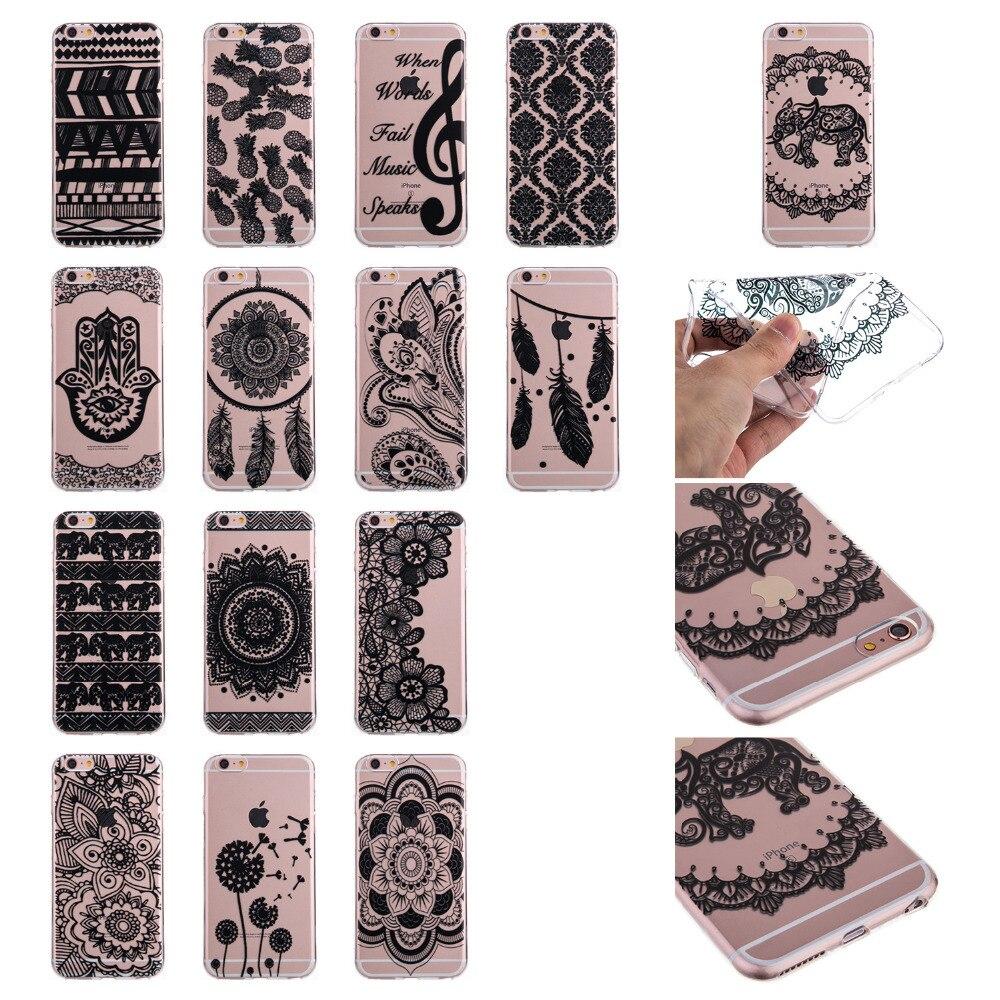 Caso para iphone 6 s plus tpu suave silicona contraportada para iphone 6 más de