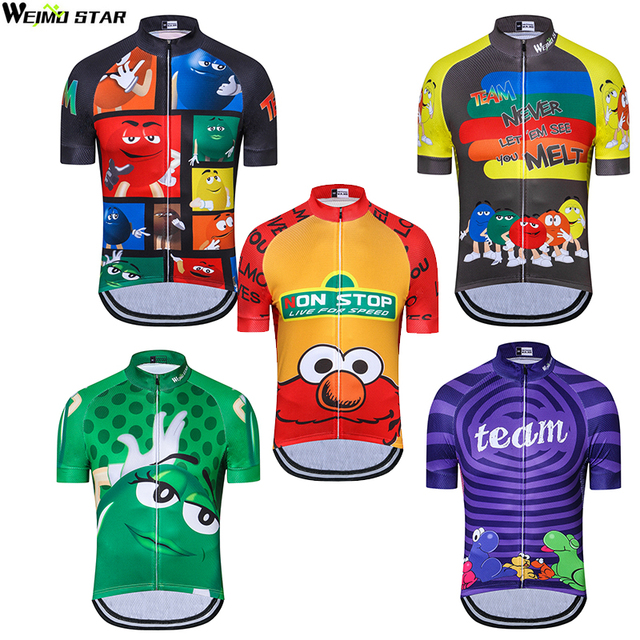 Weimostar men cycling jersey cycling clothing Bicycle clothes Cartoon Funny  Jersey Ropa Ciclismo Tops d08d2cf38