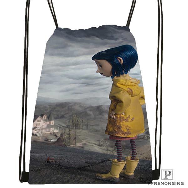 Custom Coraline_by_edgarto   Drawstring Backpack Bag Cute Daypack Kids Satchel (Black Back) 31x40cm#180612-03-Coraline