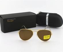 1pcs Designer Sunglasses Mens Womes Sun Glasses Eyewear Gold Frame Brown 58mm UV400 Glass Lenses With box and case original 1pcs ssg45c30