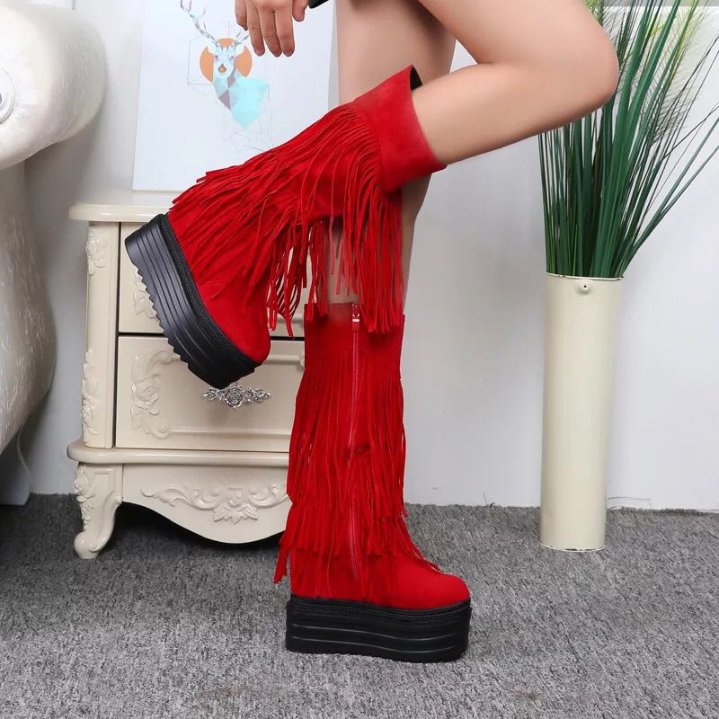 2018 new women s boots Europe and the United States 13CM super high heel plus velvet