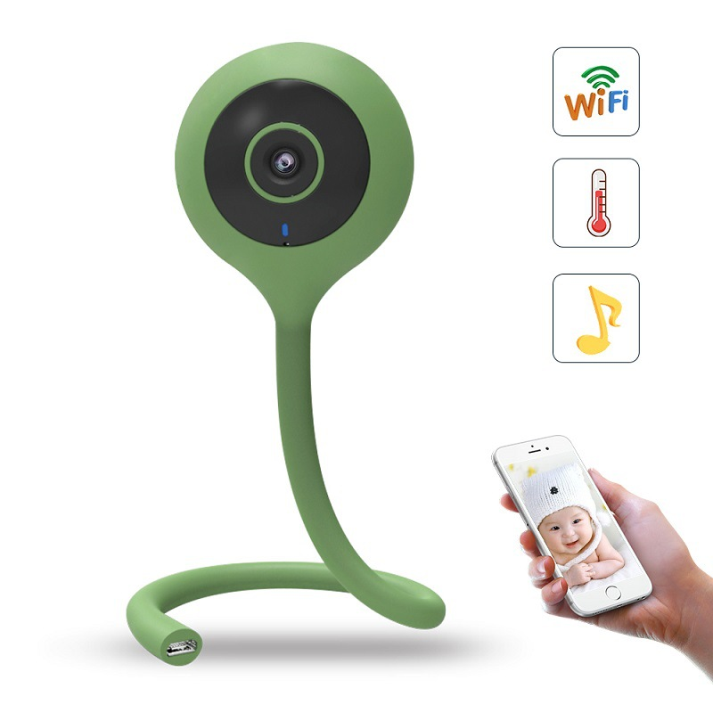 Беспроводной няня Видеоняни и радионяни Wi-Fi Камера Ночное видение двухстороннее аудио колыбельные Температура влажность мониторинга BeBe мо...