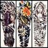 25 Style Big Flower Arm Temporary Tattoo Sticker Women Men Body Art Fake Flash Water Transfer